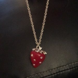 Jewelry - Cute long strawberry necklace.